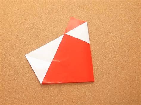 5 step origami how to make an origami santa 2 fold version 5 steps