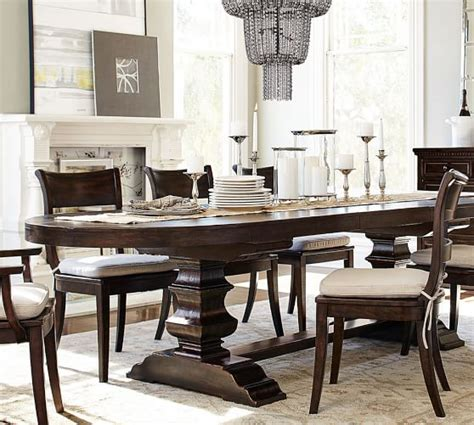 dining room table pottery barn banks oval dining table pottery barn