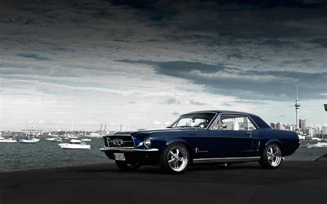 Graveyard Classic Car Wallpapers For Desktop by Vintage Mustang Wallpaper 30 Images On Genchi Info
