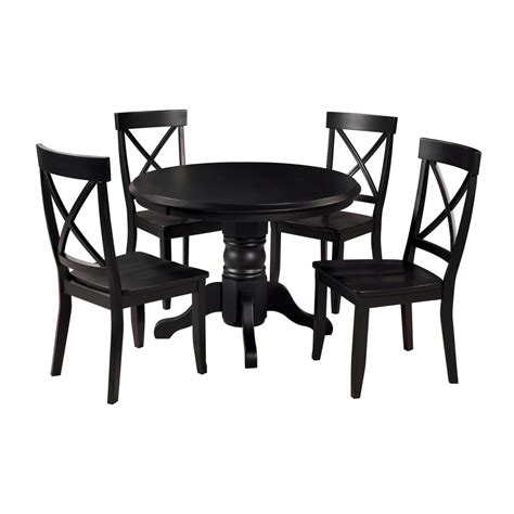black 5 dining set shop home styles black 5 dining set with dining table at lowes