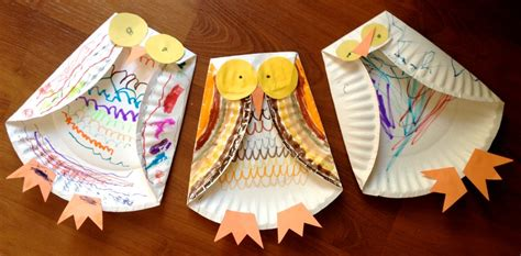owl paper plate craft paper plate owl family crafts