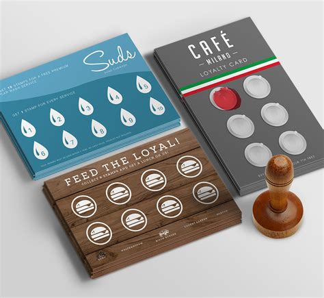 small rubber sts loyalty cards tea house business card template free cf00003