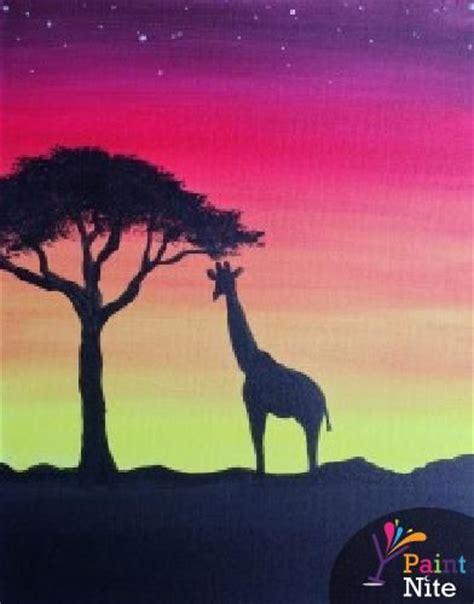 paint nite umami burger 17 best ideas about giraffe painting on