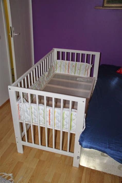 crib that hooks to bed gulliver baby crib meets an engineer ikea hackers ikea