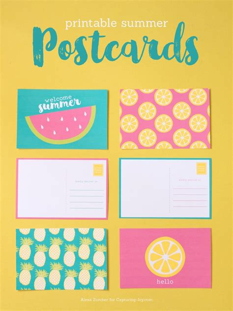make free cards with photos printable summer postcards capturing with kristen duke