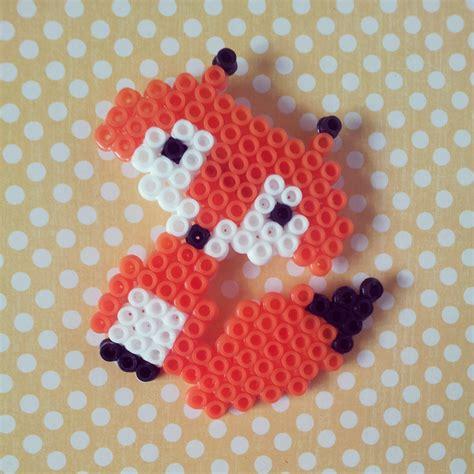 perler bead fox tea and craft perler bead brooches