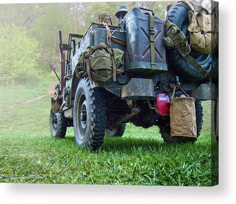 acrylic painting of jeep bantam jeep acrylic print by dottle