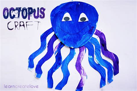 octopus paper plate craft octopus for open house classroom ideas