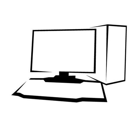 drafting computer desk desktop computer drawing at vectorportal