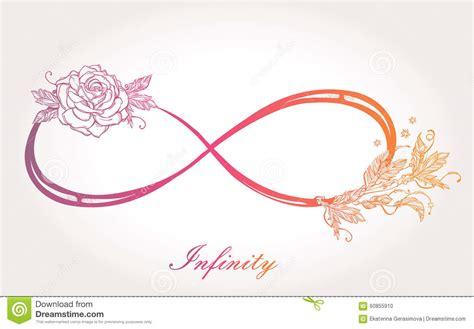 le signe d infini avec a mont 233 illustration stock image