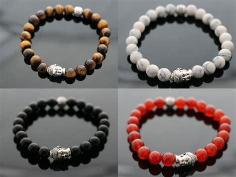 pics of beaded bracelets buddha mens bracelet beaded bracelet unisex by pearsapples
