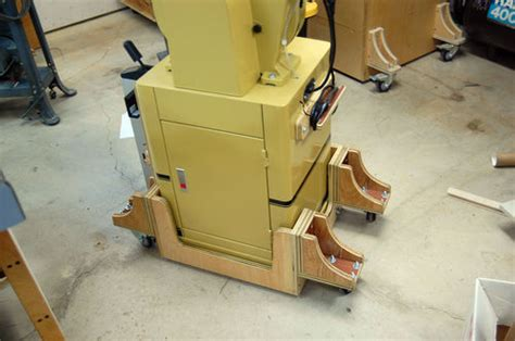 mobile bases for woodworking equipment universal power tool mobile base idea by tyvekboy