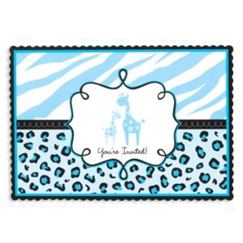 Safari Blue Baby Shower City by Blue Safari Baby Shower Invitations 20ct City