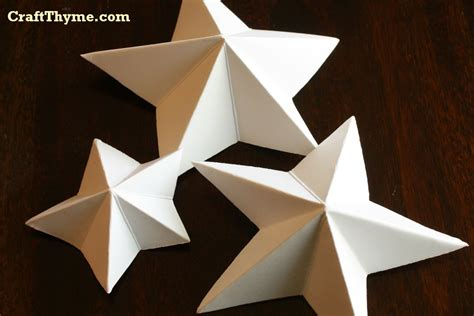 how to make a paper craft paper how to make 5 pointed 3 d craft thyme