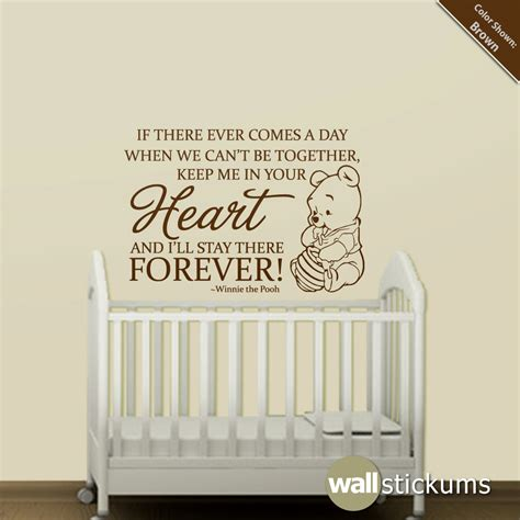 nursery sayings wall decals nursery wall decal quote winnie the pooh forever quote