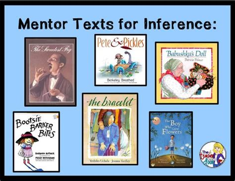 picture books for inferences mentor texts to teach inference mentor texts