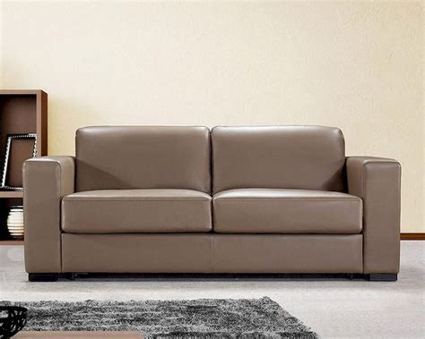 modern leather sofa bed dual modern brown leather sofa bed 44l6036