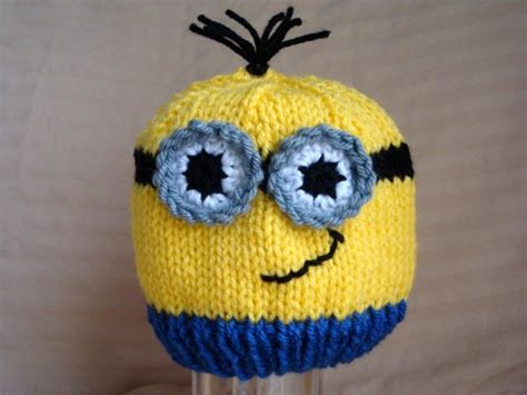 minion knit hat large minion hat inspired from despicable me child size