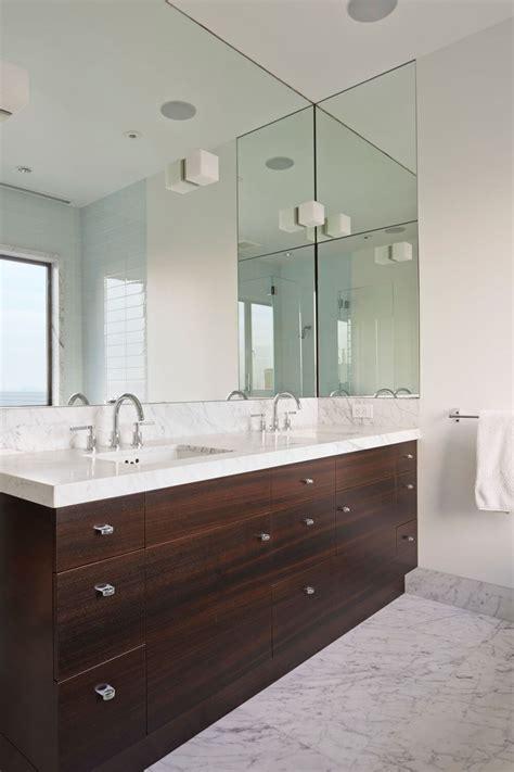 large mirror in bathroom bathroom mirror ideas fill the whole wall contemporist