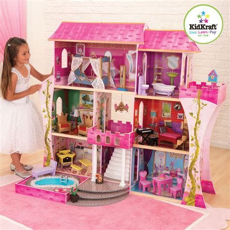 kid craft kidkraft once upon a time wooden dolls house with