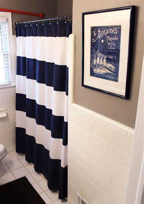 Navy Bathroom Accessories nautical bathroom curtain blue nautical shower curtain