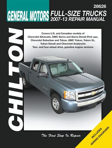 chilton car manuals free download 1994 gmc 1500 club coupe navigation system silverado tahoe sierra yukon denali repair manual 2007 2013