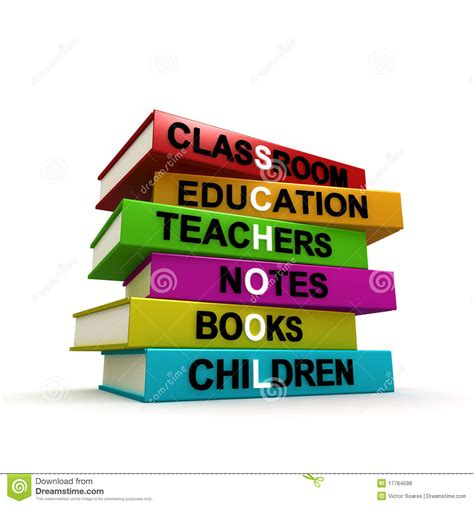 school picture books pile of colored school books royalty free stock photos