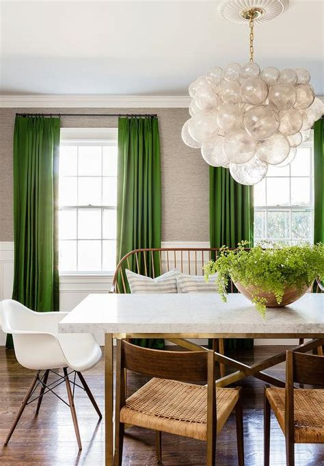 green walls grey curtains green curtains with light gray grasscloth walls