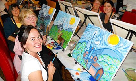 paint nite ta groupon painting class wine and canvas groupon