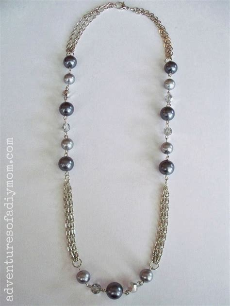 how to make beaded jewelry necklace how to make a chain and bead necklace adventures of a