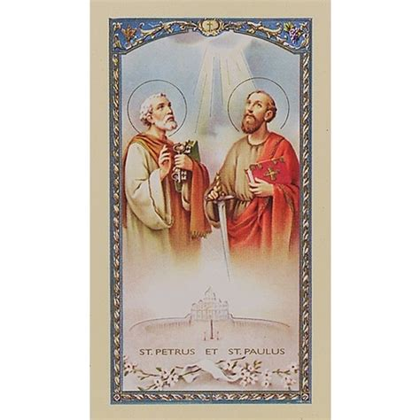 sts for card novena to sts and paul prayer card the catholic
