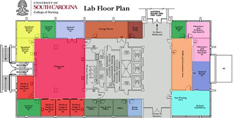 clinical laboratory floor plan about the clinical simulation lab college of nursing