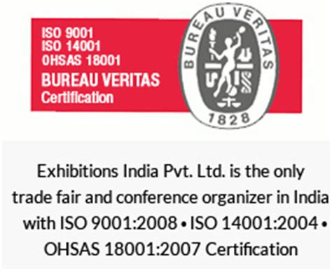 exhibitions india iso 9001 2008 iso 14001 2004 ohsas 18001 2007 trade promotion