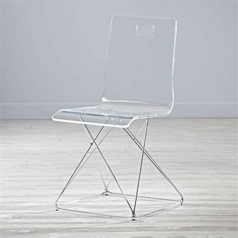 acrylic desk chair now you see it acrylic desk chair the land of nod