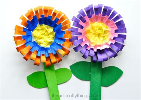 crafting paper flowers bright and colorful flower craft for i crafty