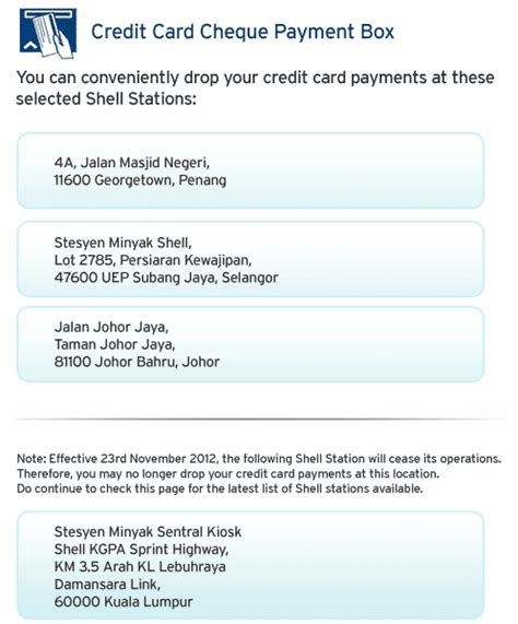 shell credit card make payment credit card chequed payment box citibank malaysia