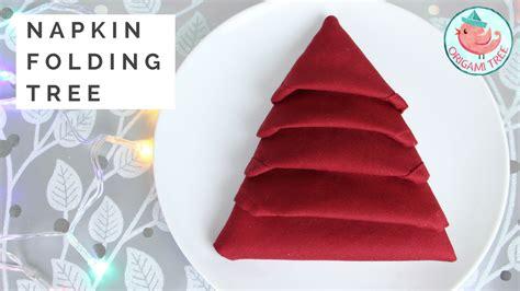 servietten falten weihnachtsbaum napkin folding tree tutorial 187 origamitree
