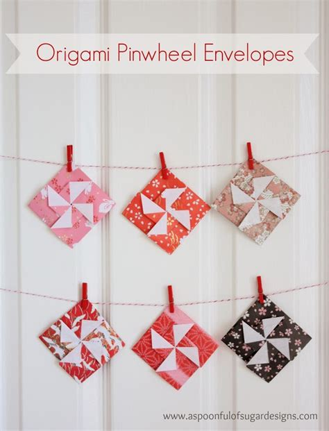 how to make a origami pinwheel origami pinwheel envelopes a spoonful of sugar