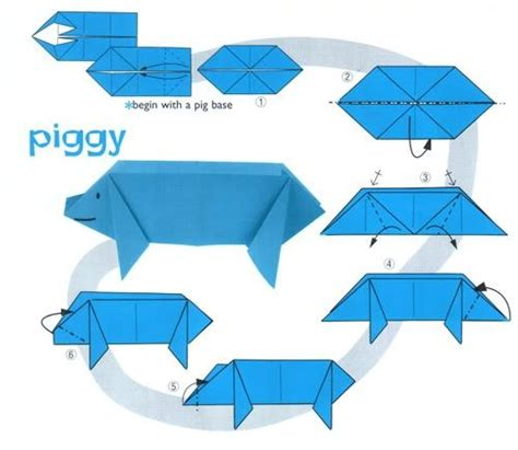 cool easy origami animals pig origami other animal