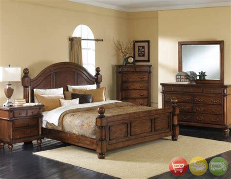 and walnut bedroom furniture augusta traditional walnut finish bedroom furniture set