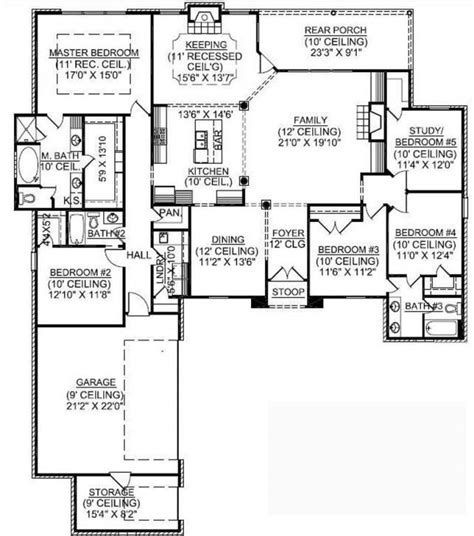 floor plans for 1 story homes best 25 5 bedroom house plans ideas on 4