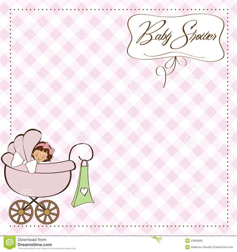 baby announcement card stock vector image 23858685