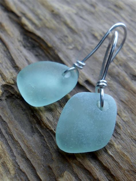 glass for jewelry sea glass jewelry glass wedding earrings the
