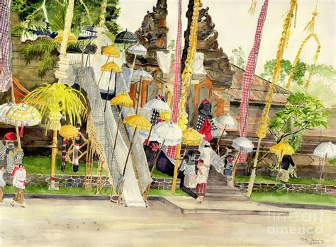 festival painting indonesia festival hindu ceremony painting by melly terpening