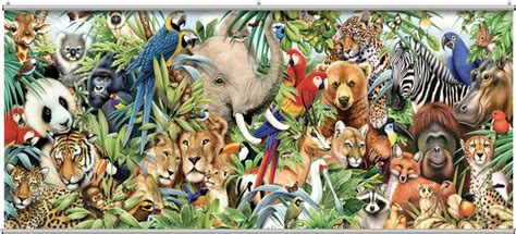 animal jungle jungle animals wall mural