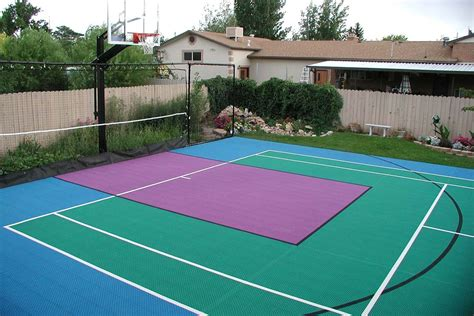 backyard court backyard courts neave sports