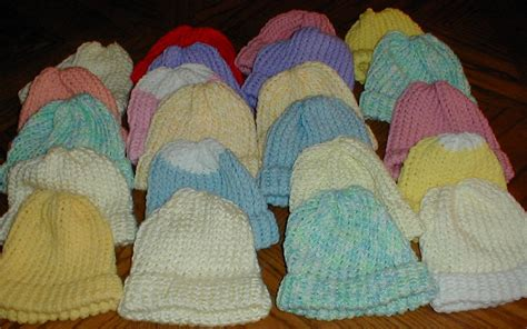 loom knit newborn hat karens crocheted garden of colors 22 baby loom knitted