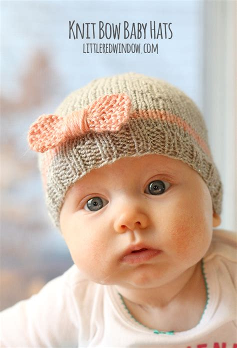 knit baby hat pattern knit bow baby hats window