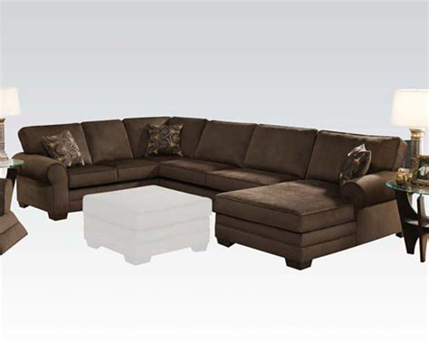 acme sectional sofa acme furniture deluxe sectional sofa tenner ac50610