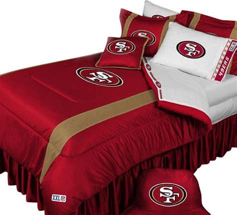 san francisco 49ers football bed comforter set